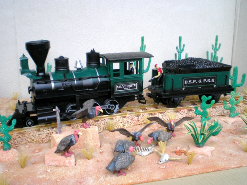 Western-Dioramen für 54 - 90 mm Figuren Wasten15