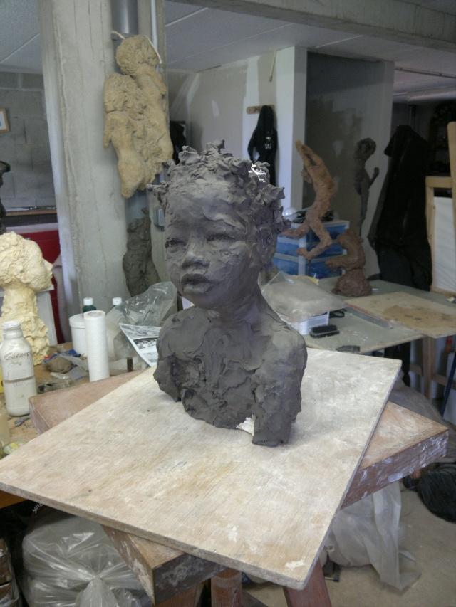 moulage d'un buste terre cuite 12042010