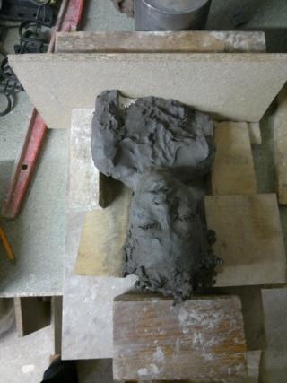 moulage d'un buste terre cuite 12042023