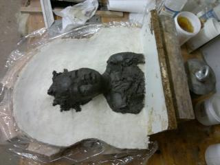moulage d'un buste terre cuite 15042011