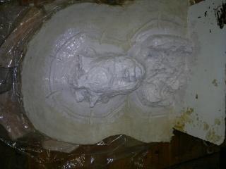 moulage d'un buste terre cuite 16042013