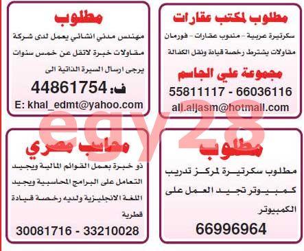 وظائف قطر - وظائف جريدة الشرق الوسيط الاربعاء 18/7/2012 2_htm310
