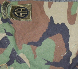 82nd Airborne BDU shirt from first wounded trooper in Grenada Bdu210
