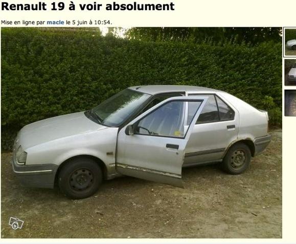 Renault 19 a voir absolument  sur le bon coin Captur11