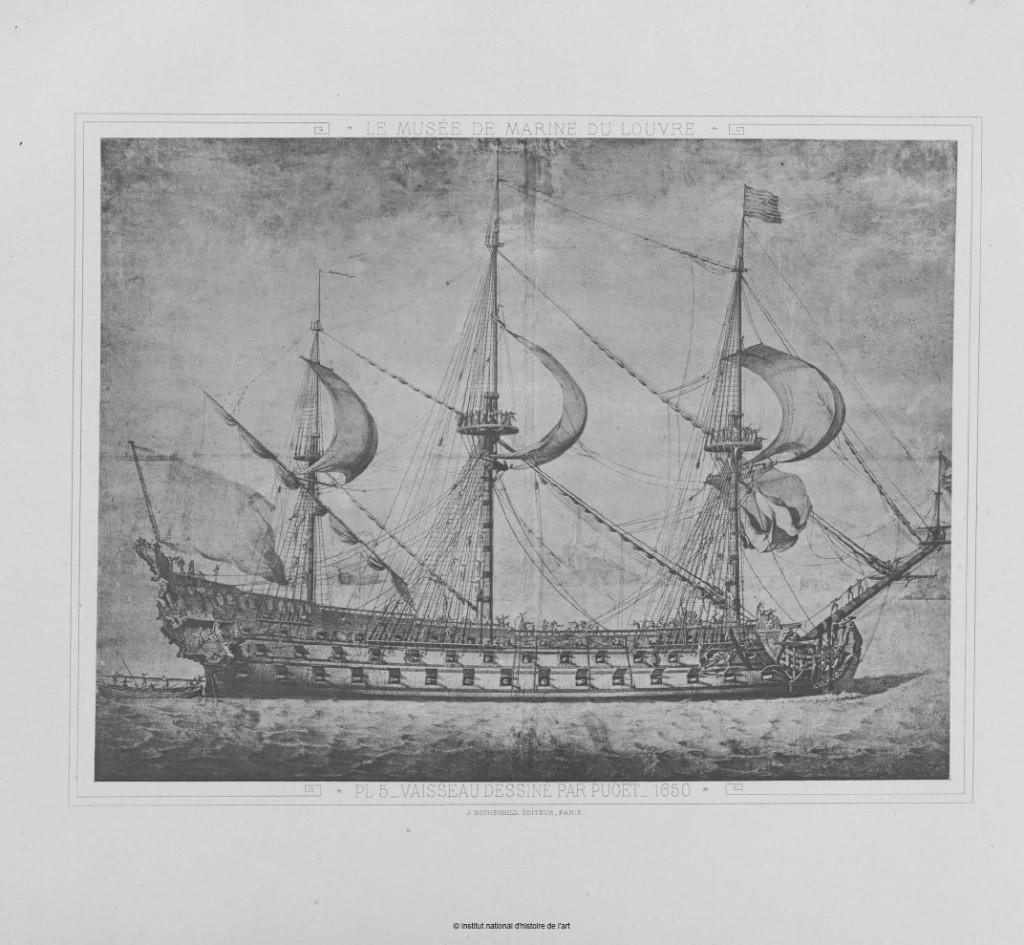 Dessin d'un vaisseau de 1er rang par Puget en 1650 Puget_10