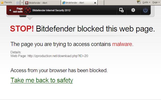 Faux Positif - Bitdefender bloque NewZFinders - *RÉGLÉ Websit11
