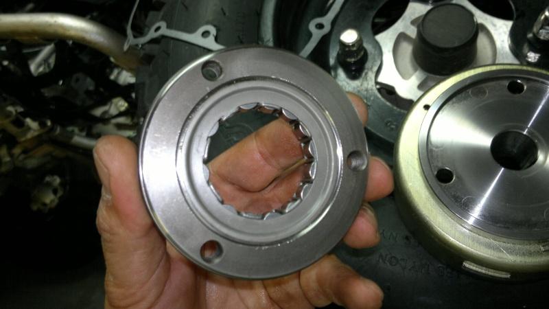 remplacement roue libre de demarrage triton baja 300 1119