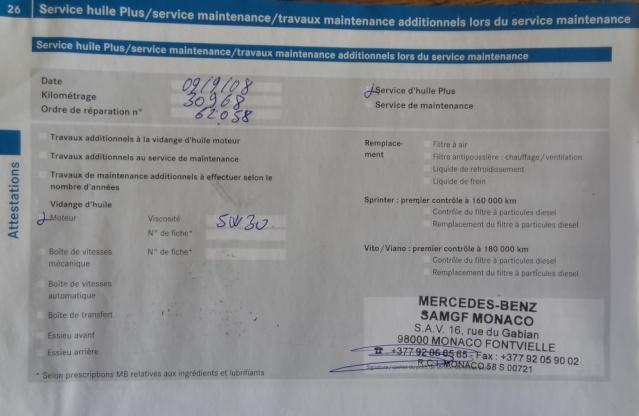 Pont avant en panne suite mauvais conseil entretien mercedes sur viano 4matic... P2610
