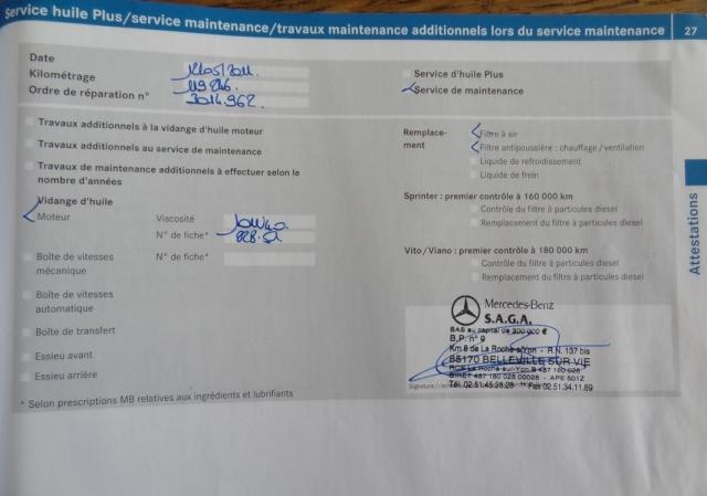 Pont avant en panne suite mauvais conseil entretien mercedes sur viano 4matic... P2710