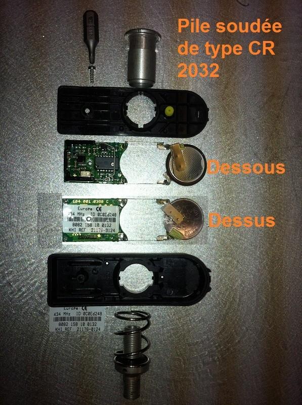 Changement de pile capteur de pression Pneu 810
