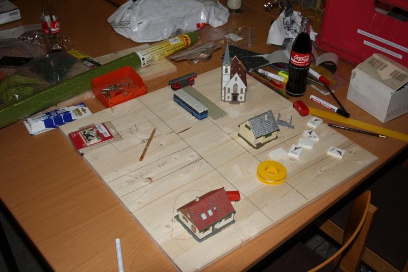Kleine Stadt mit Feuerwache Planspiel für die Feuerwehr Img_3311