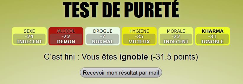 Le test de pureté  Puretz10