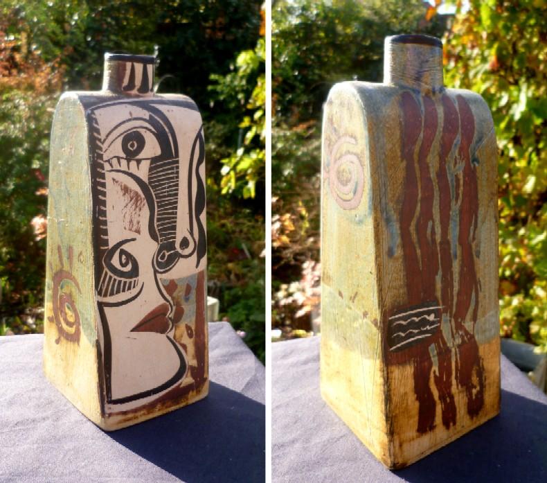 Most horric plaster bottle vase - Ceramica Otero Regal, Spain?  Untitl10