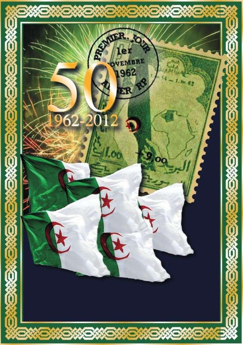 50éme ANNIVERSAIRE DU TIMBRE-POSTE ALGERIEN 1novem11
