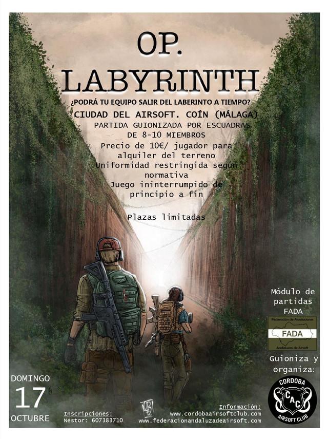 EVENTO OP. LABYRINTH | 17 OCTUBRE | CIUDAD DEL AIRSOFT | 10€ Cartel10