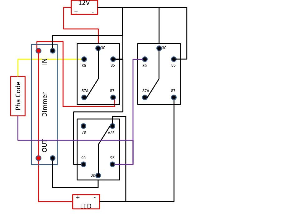Pose de projecteurs additionnels, leds ou halogènes ? Schema14