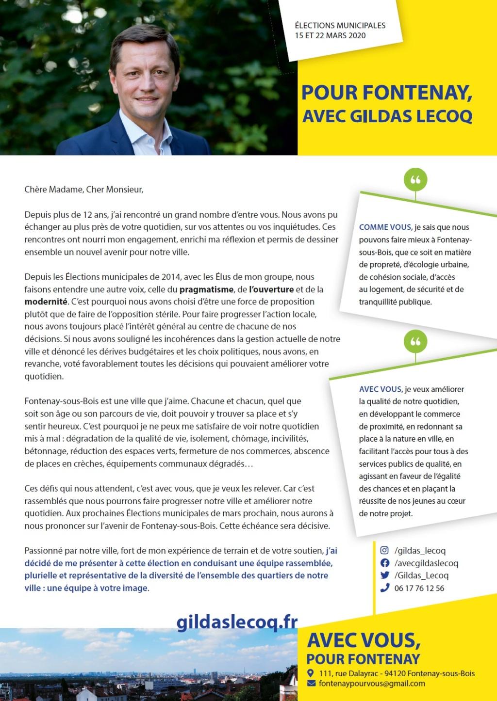 Municipales 2020 : Je suis candidat avec vous pour Fontenay Lettre14