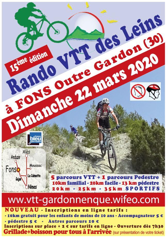 22.03 - Rando des Leins (15ème édition) à Fons Outre Gardon - !!! ANNULE !!! Affich18