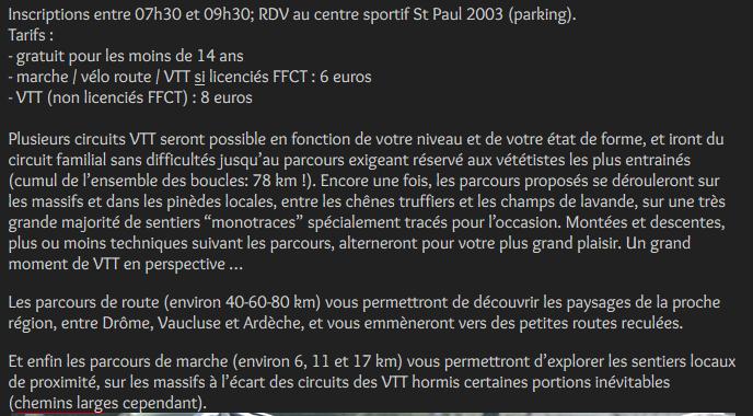 10.03 - La 23ème rando des Trois Plateaux à Saint-Paul-Trois-Châteaux Captur16
