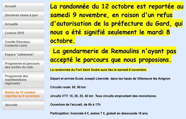 12.10 - Rando VTT du Fort St André (34ème édition) à Villeneuve-lès-Avignon  -  REPORTEE Captur28