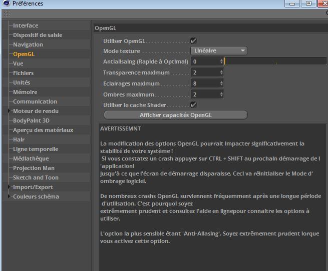 Optimosation d'un rendu sans OA Opengl10