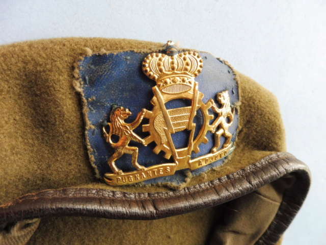The battledress in use by the Belgian army (1945-1979) Beret_10