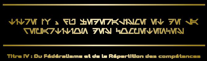 Constitution de la République Titre-14