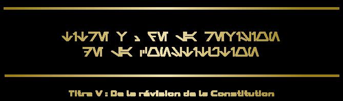 Constitution de la République Titre-15