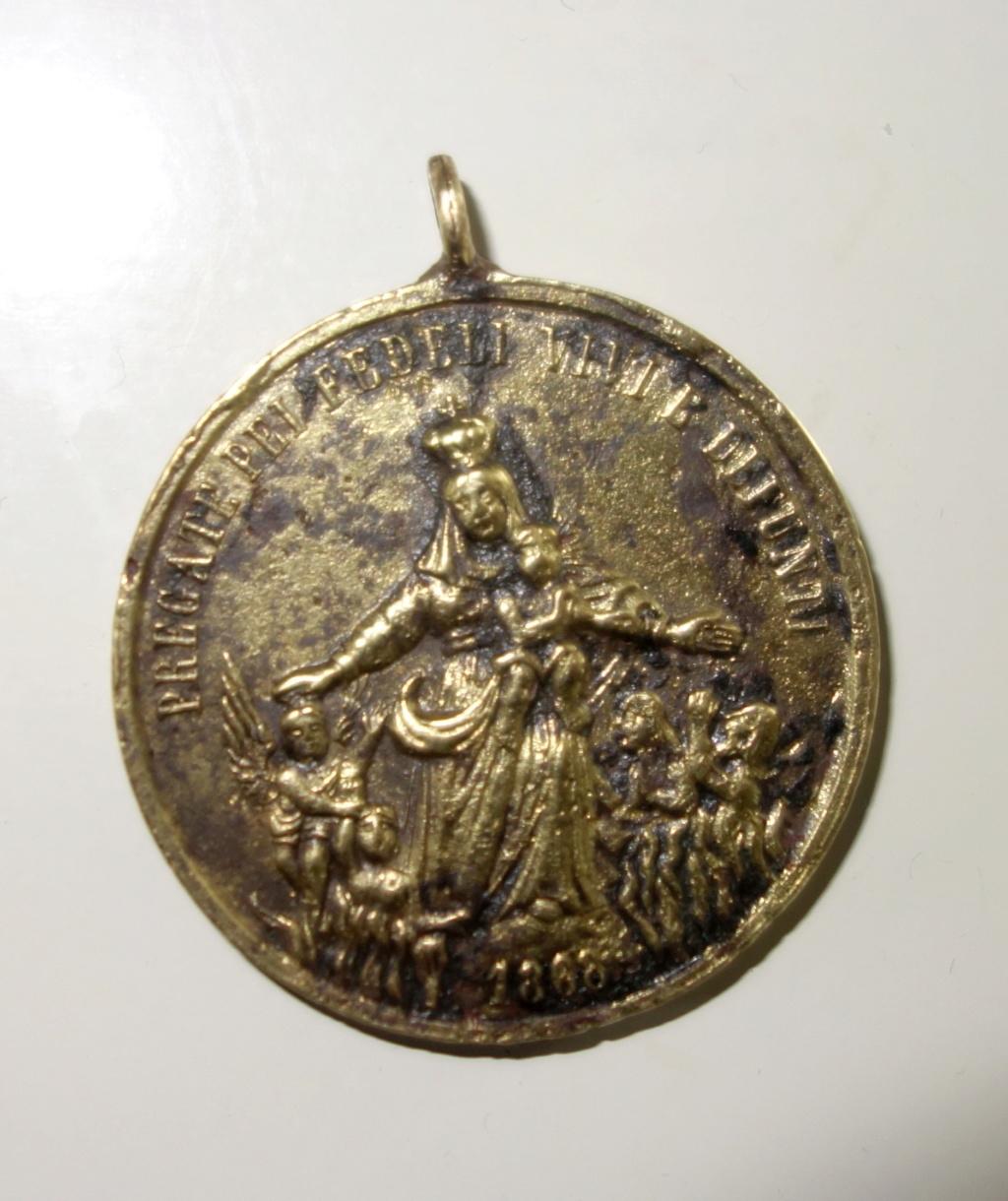 San Carlos Borromeo / Virgen - fecha 1868 Med111