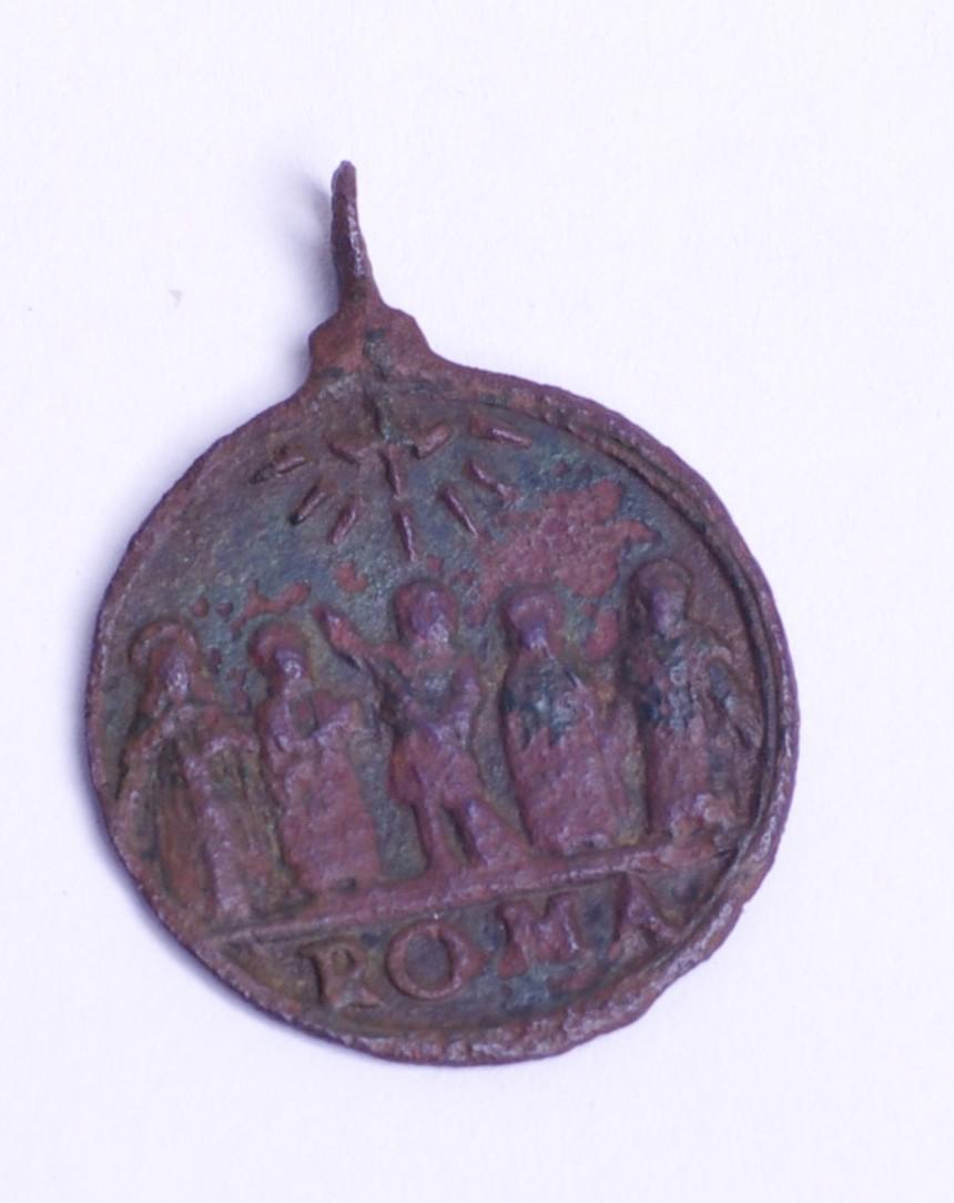 una medalla de carlos borromeo/Cinco santos canonizados en 1622 Phot9411