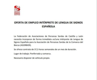FAPSCL busca intérprete para Ponferrada y comarca. 011