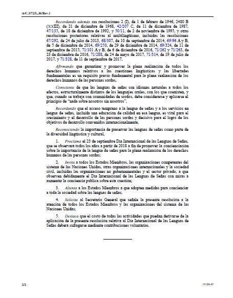 23 Septiembre - Día Internacional de las Lenguas de Signos CDPC-ONU Artículo 21. 210