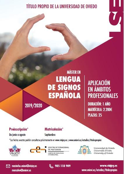 MASTER DE LENGUA DE SIGNOS DE LA UNIVERSIDAD DE OVIEDO - III edicion. Cartel11
