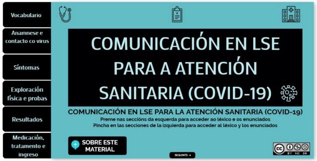 Comunicación en LSE para Atención Sanitaria (COVID-19) Comuni10