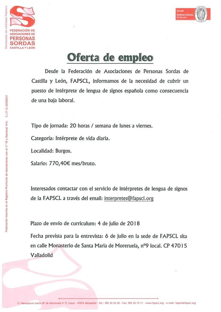 FAPSCL busca intérprete de lengua de signos para Burgos. Fb_img10