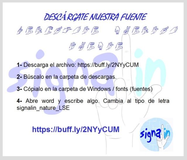 Fuente de dactilológico SignaLin para documentos de word Fuente11