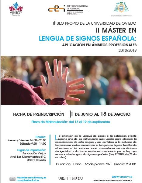 Máster en Lengua de Signos Española: aplicación en ámbitos profesionales - Univ. de Oviedo Master11