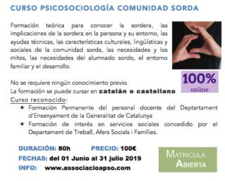 Curso online de APSO - PSICOSOCIOLOGÍA DE LA COMUNIDAD SORDA (1 jun.-31 jul.) Online10