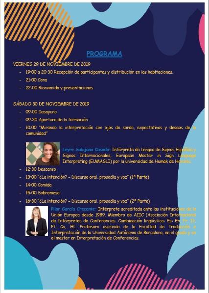 """ESHIE organiza: """"Motivación, Innovación y Supervivencia en la Profesión"""" - 29, 30 nov. y 1 dic. -Vitoria Gasteiz Progra10"""