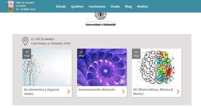 """Festival de divulgación científica """"Pint of Science (PoS)"""" 20, 21 y 22 de mayo. En Valladolid con LSE Scien11"""