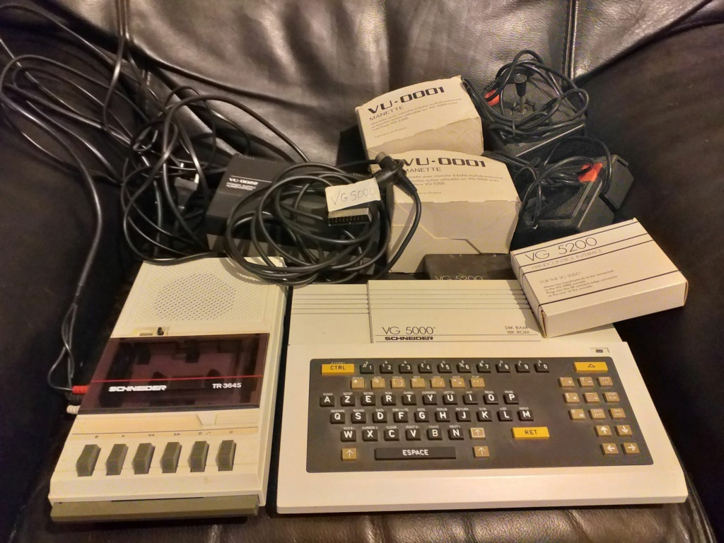 VDS - VG 5000 + Lecteur K7 + 2 Manettes + Jeux etc Avg50010