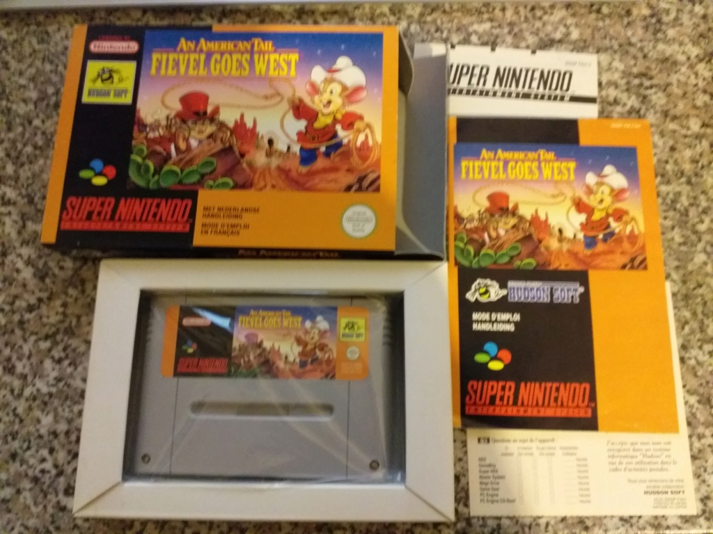 --- VDS --- Collection Super Nintendo ----- VENDU ----- Fievel10