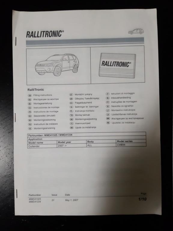 Centralina RALLYTRONIC originale con cablaggio  20210711