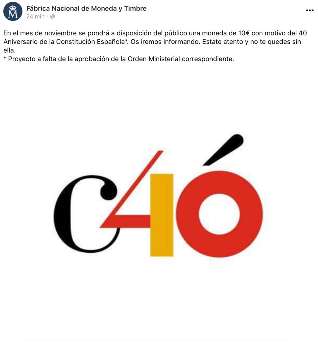 10€ - 40 años de la Constitución Española 12e95c10