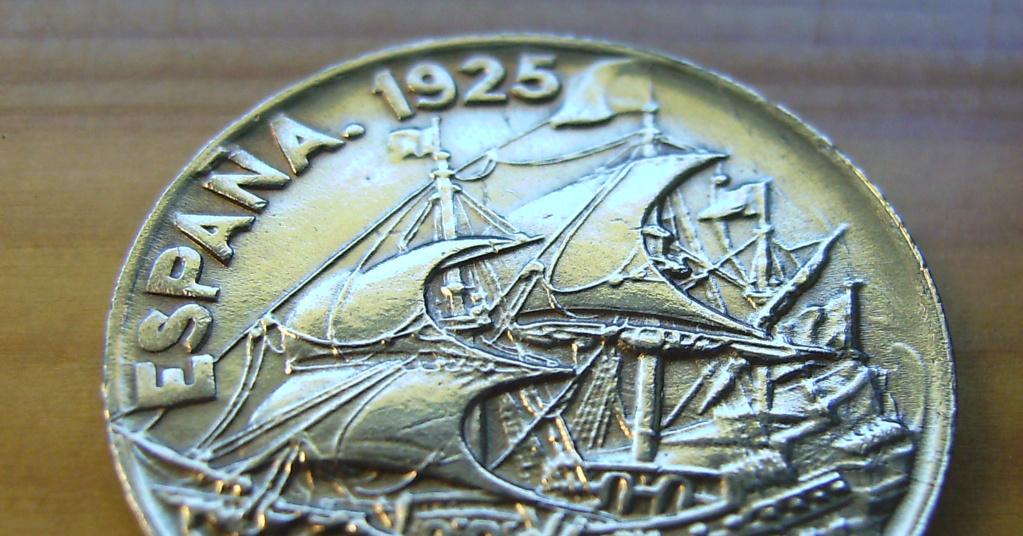 25 Céntimos 1925. Alfonso XIII. La Carabela Anvers12