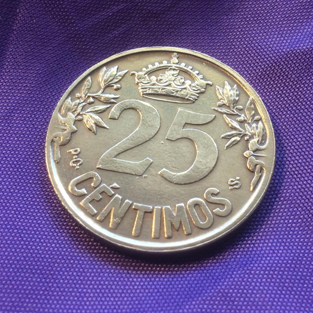 25 Céntimos 1925. Alfonso XIII. La Carabela Revers10