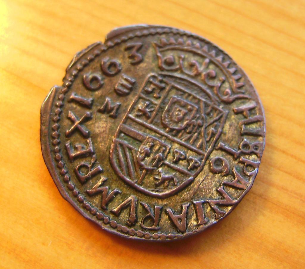 16 Maravedís - Valladolid - Felipe IV - 1663 Sany4414