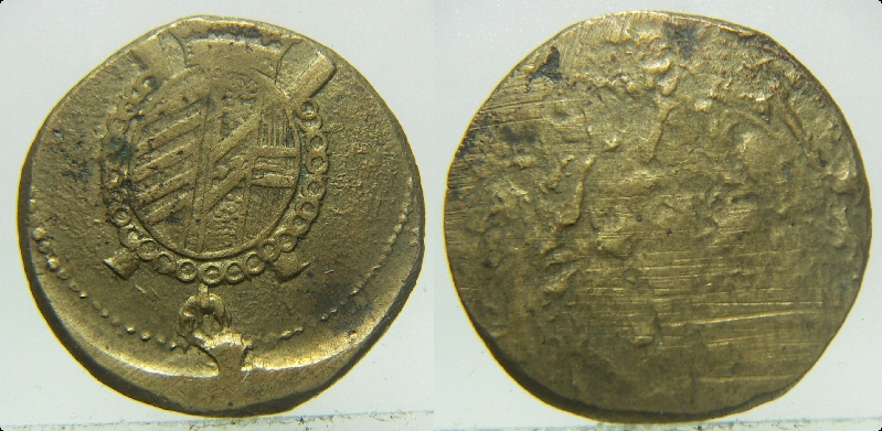 Ponderal para 1/2 soberano austriaco de Milán. Siglo XVIII Pict3910