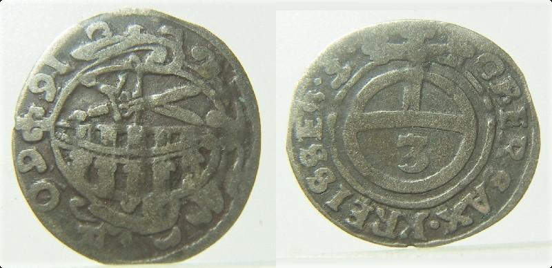 1 Dreier (3 pfennig). Sajonia (1660) Pict5010