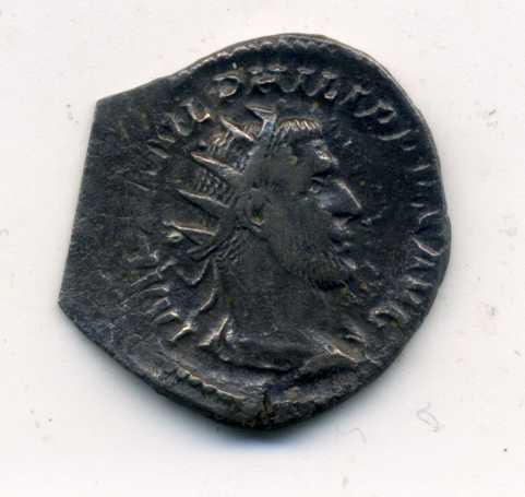 Antoniniano de Filipo I (El Árabe). LIBERALITAS AVGG II. Roma Anv00115